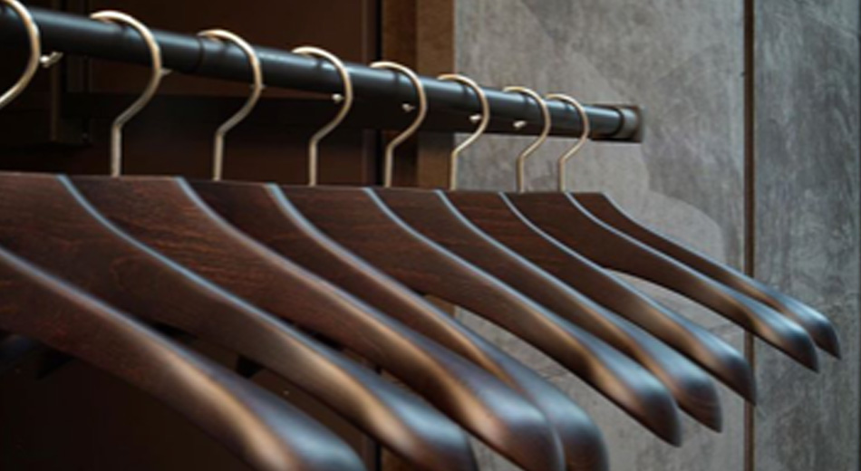 A rack for hangers