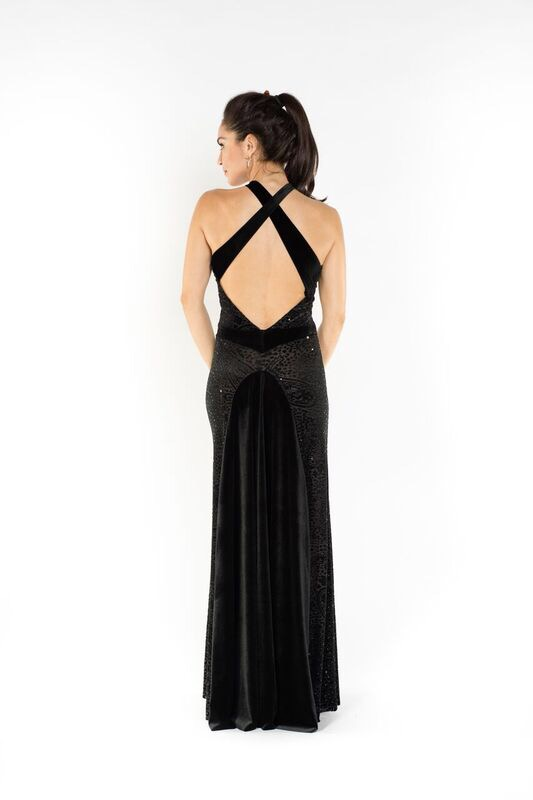 Velvet devore evening gown