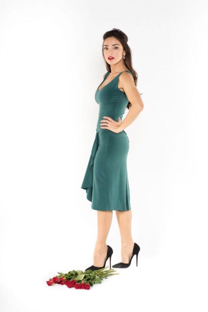 Forrest Green tango dress