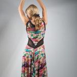 Capri tango dress in 100% natural viscose