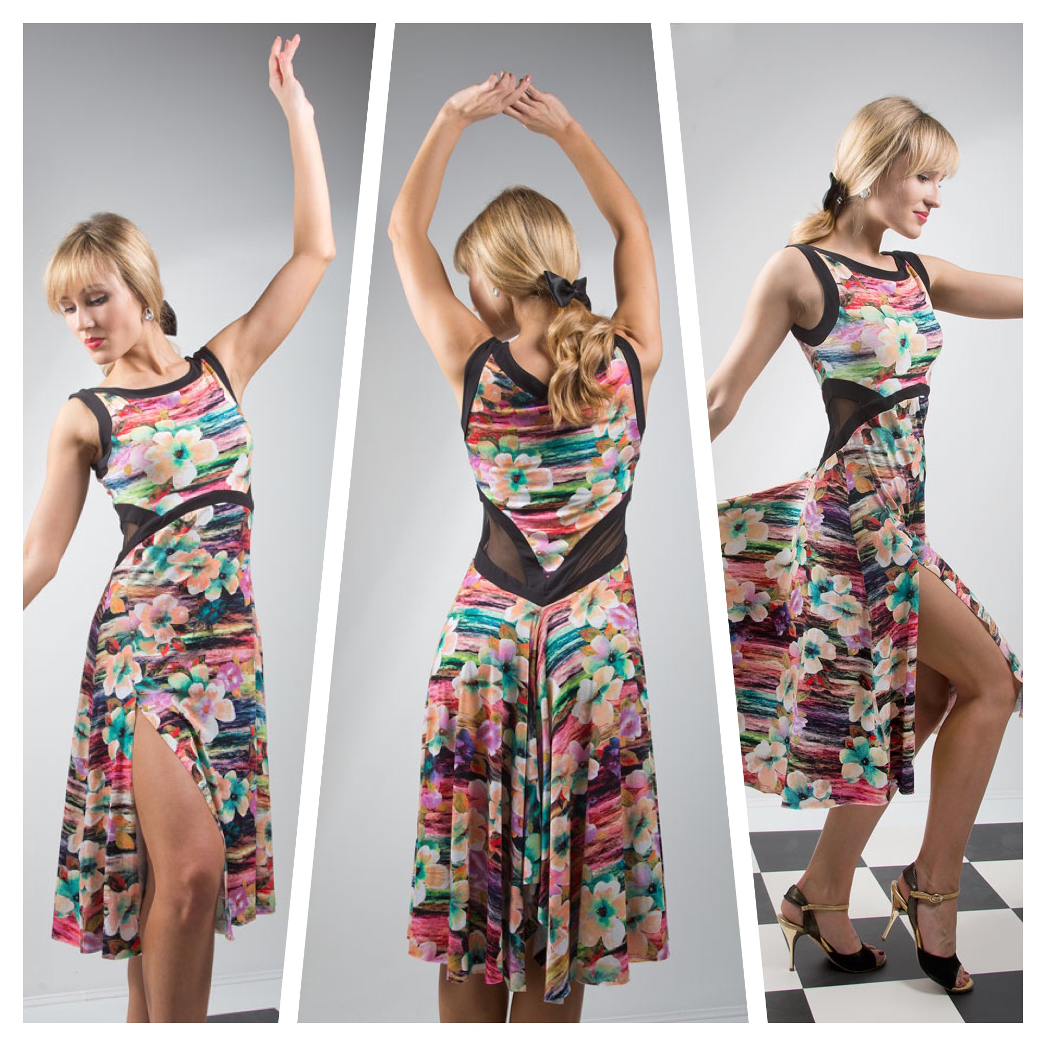 Capri tango dress in 100% natural viscose