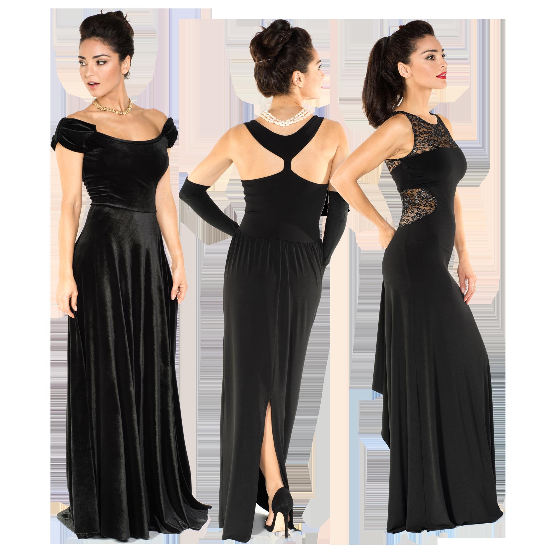 A black Tango dress