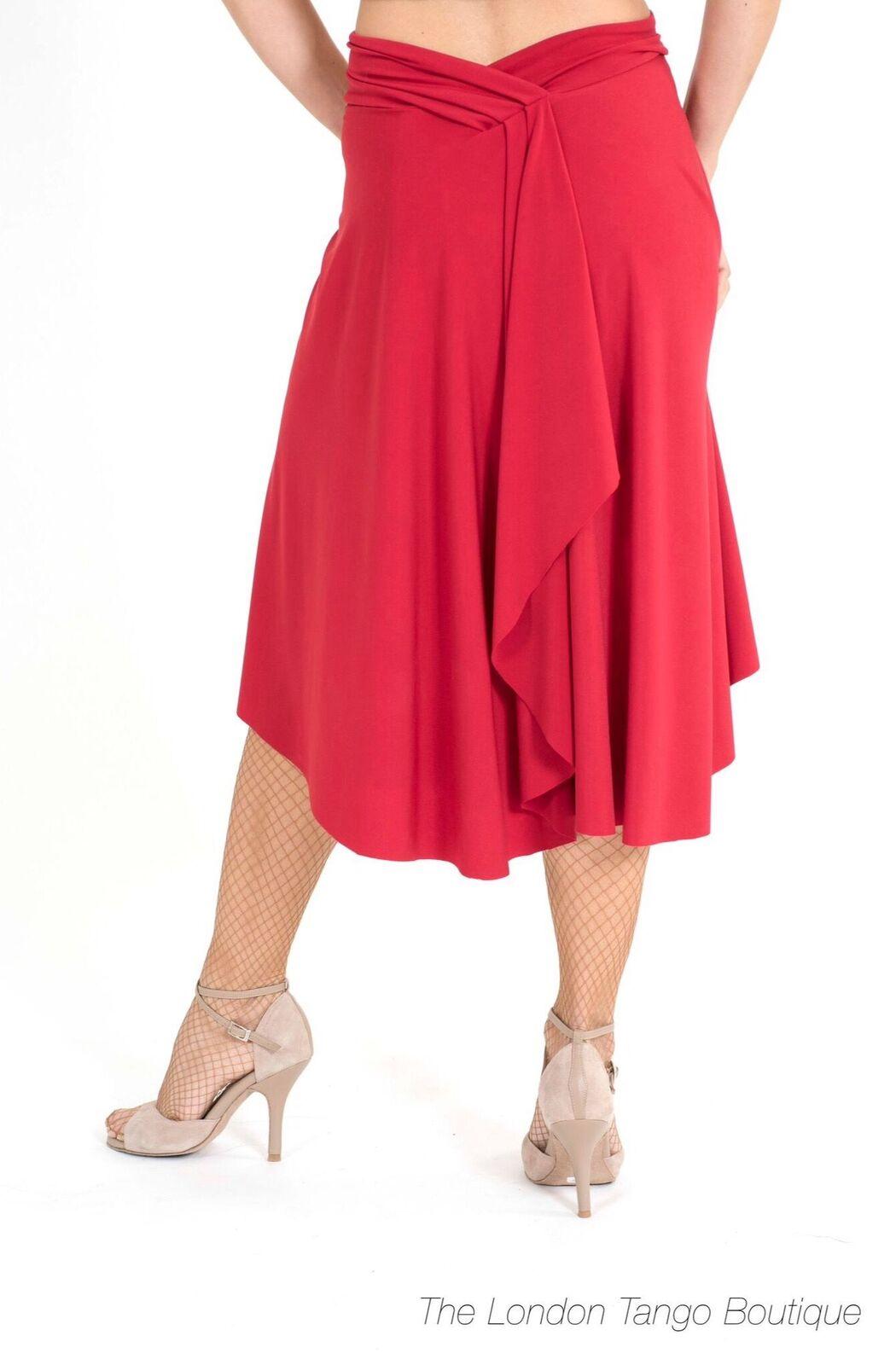 A draped argentine tango skirt