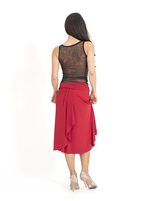 A stylish red argentine tango skirt