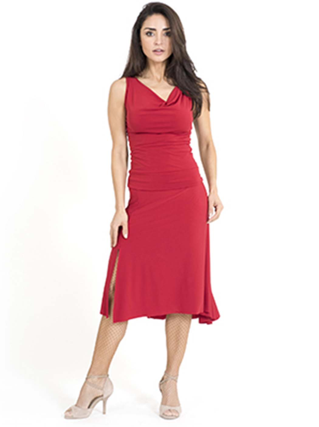 A lovely red argentine tango skirt