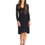 Argentine tango dress black slimming effect made in Italy