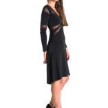 black argentine tango dress long sleeves