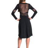 best argentine tango dress black made in Italy