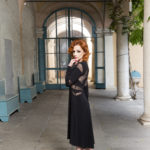 black tango dress with long sleeves cut-outs