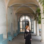long sleeves argentine tango dress Italian craftsmanship