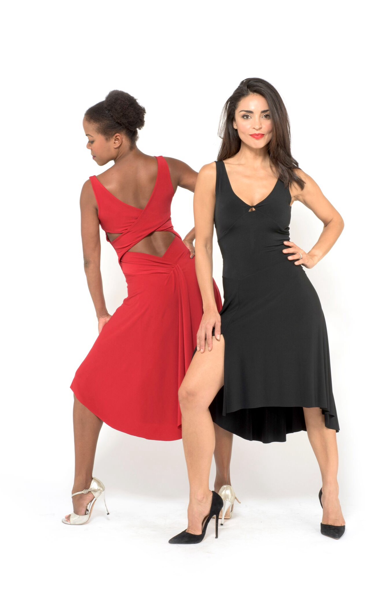 A black and red Tango dress