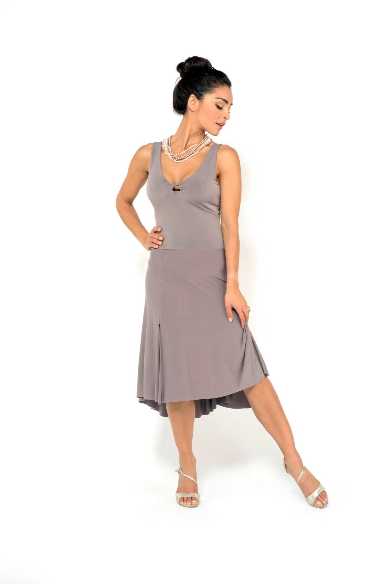 Tango dress light grey