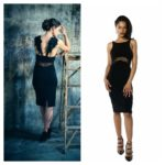 Tango dress with hand made black wings