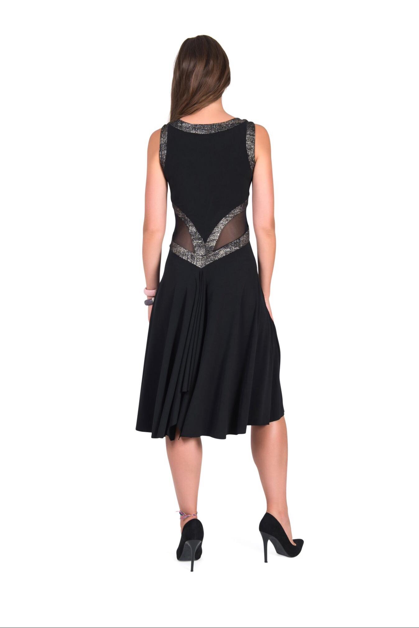 A back view of an elegant black Tango dress
