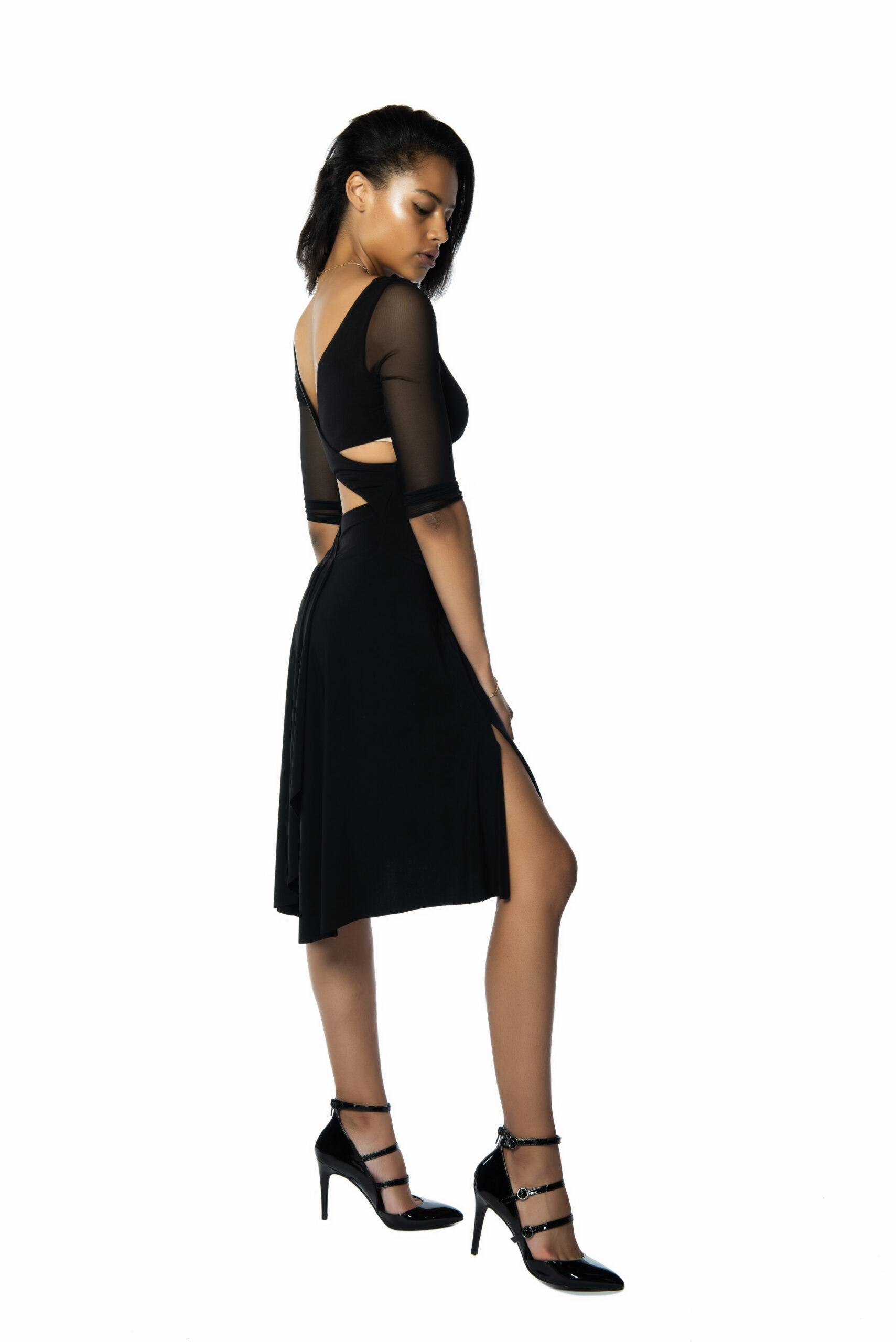 A beautiful Ferrari tango dress with tulle sleeves