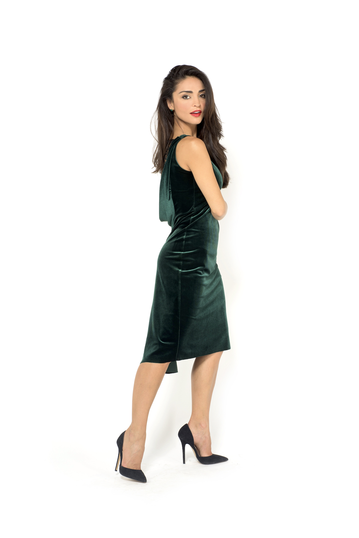 Green Velvet Tango Dress