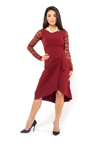 Bordeaux Tango Dress