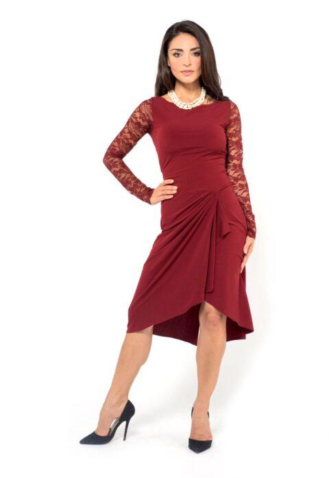 Bordeaux Tango Dress