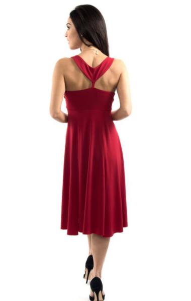A red Tango dress