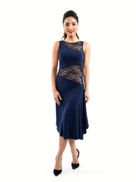 Tango Dress Navy Blue