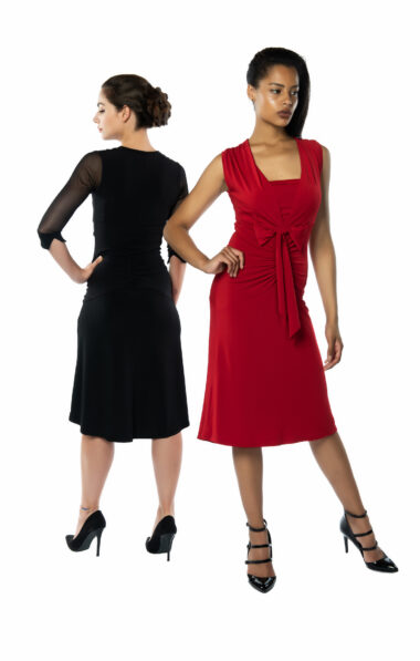 Bow tango dress red or black
