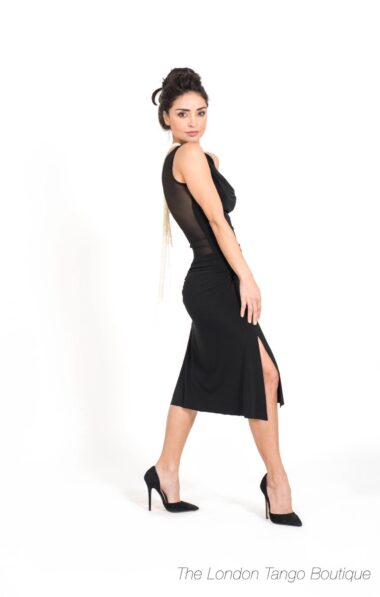 black tango dress