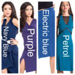 Blue and purple variants of a tango dresses