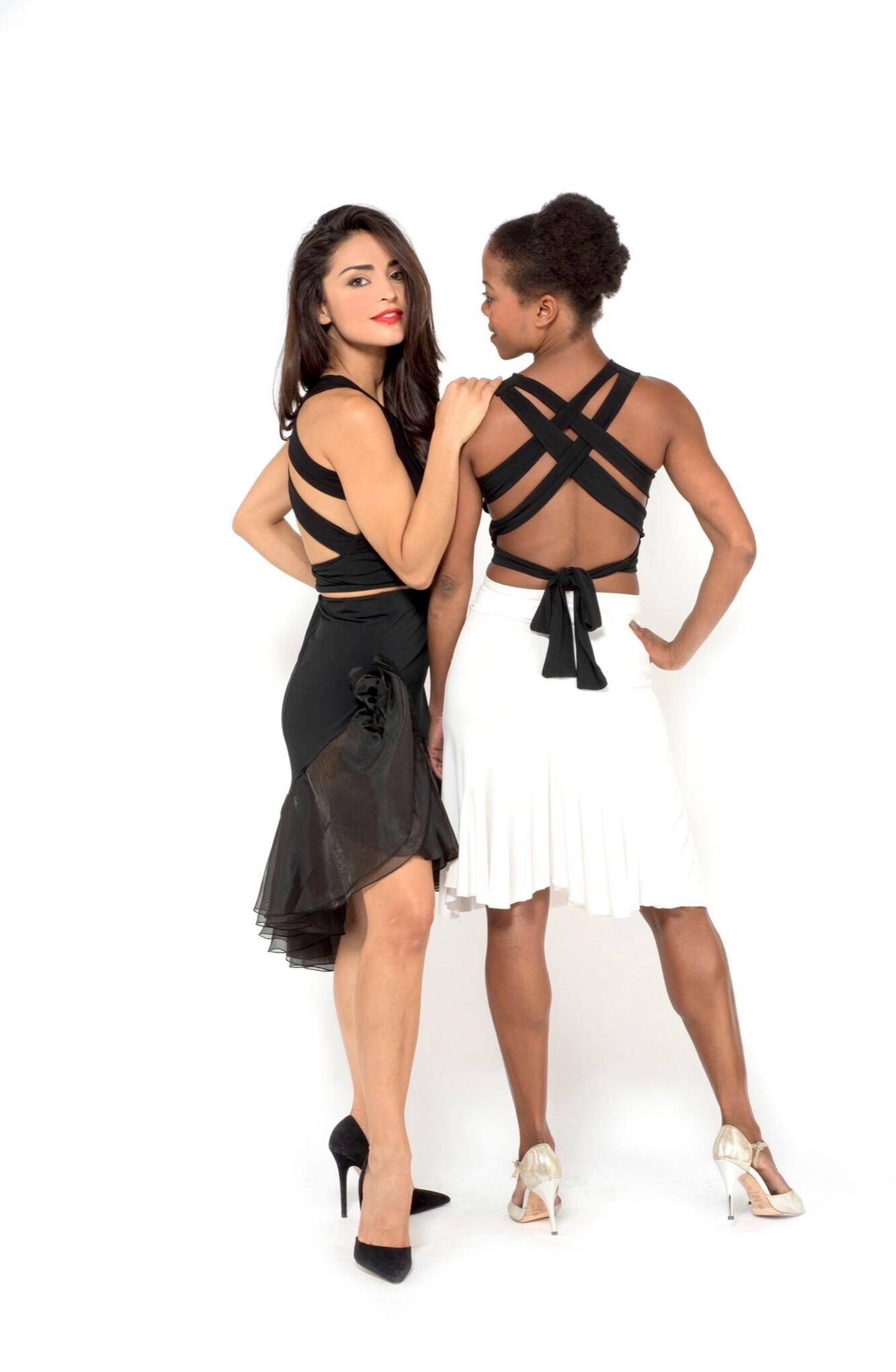 Black Argentine tango skirt