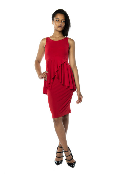 Red Argentine Tango skirt and top
