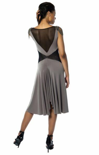 A Verona Tango dress draped neckline