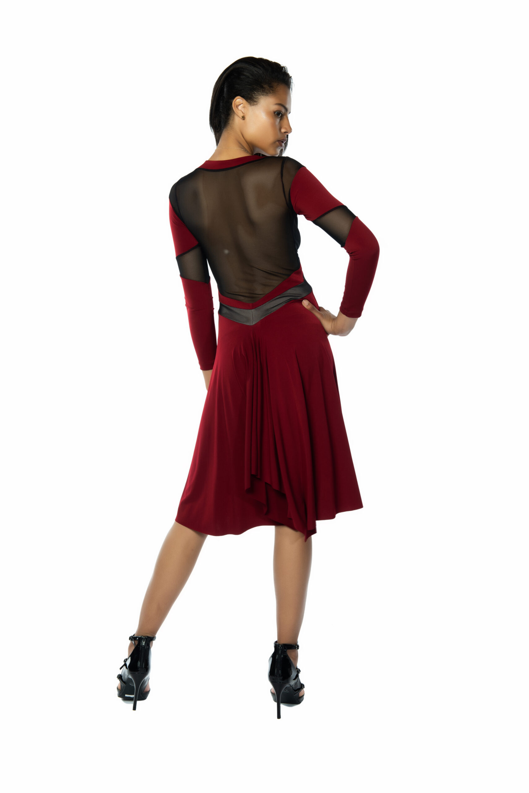 Bordeaux Tango Dress sleeves