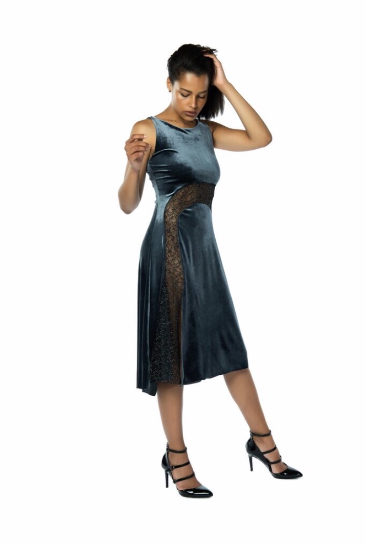Performance Silver tango Dress