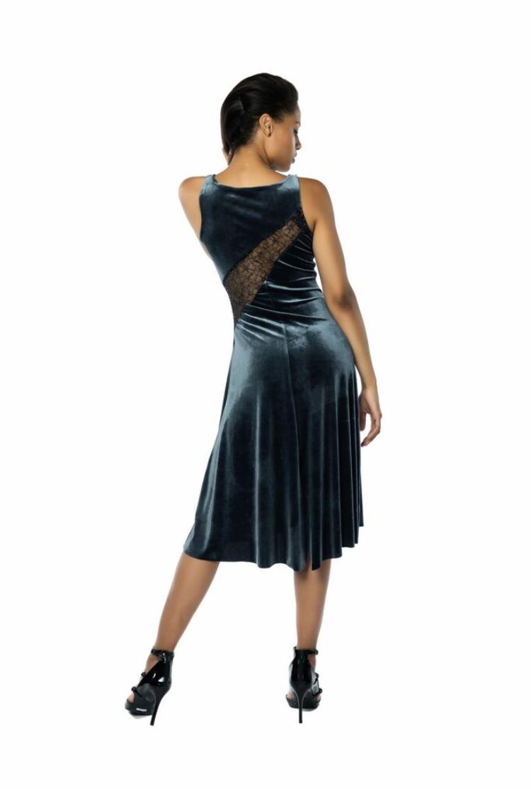 Silver Argentine Tango Dress San Francisco