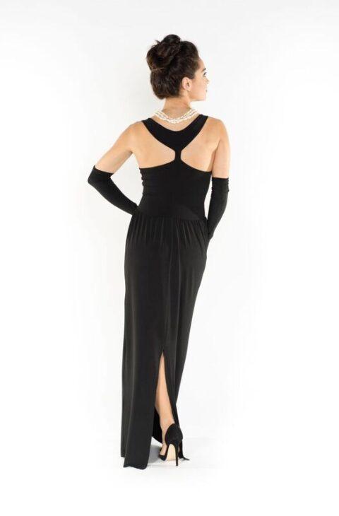 Audrey Hepburn's black long dress original