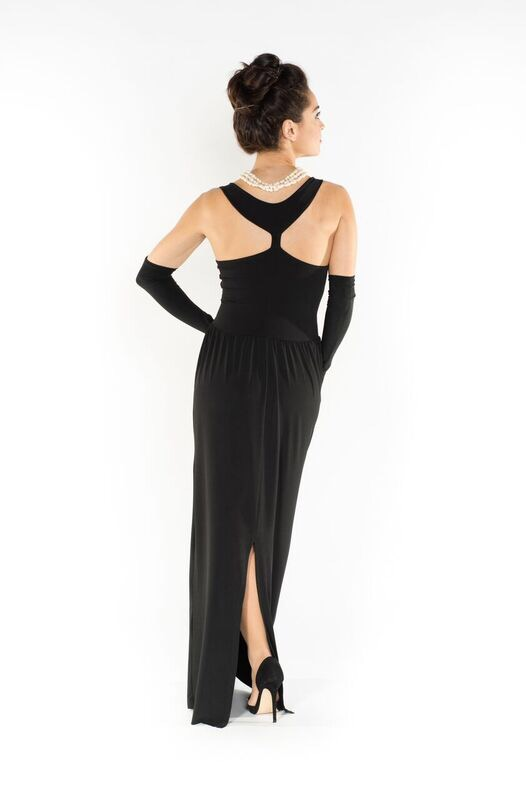 Audrey Hepburn's black long dress original
