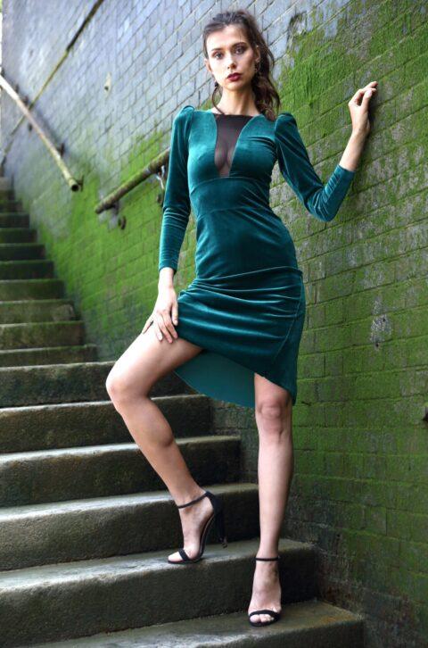 Velvet New year's eve TANGO dress