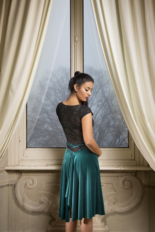 92578866791 V Tango Dress Velvet - The London Tango Boutique