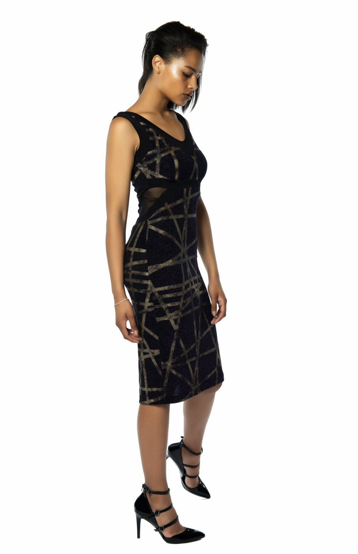 7fd424ca01 Purple   Gold Glitter Tango Dress - The London Tango Boutique