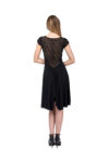 Roma Argentine Tango Dress in black with black lace