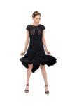 Black with black lace Argentine Tango Dress