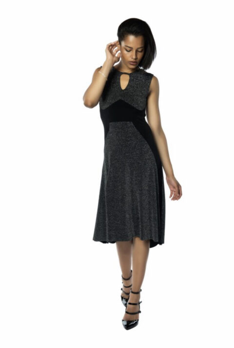 Black & Silver Tango Dress