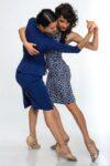 Two women dancers wearing ortigia dresses