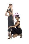 Elegant naked back knot tango dresses
