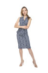 A patterned ortigia dress with matching heels