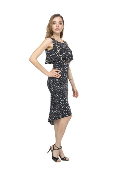 A polka dots dress