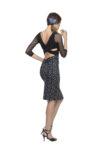 Polka dots tango skirt