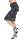 Polka dots tango skirt black and white
