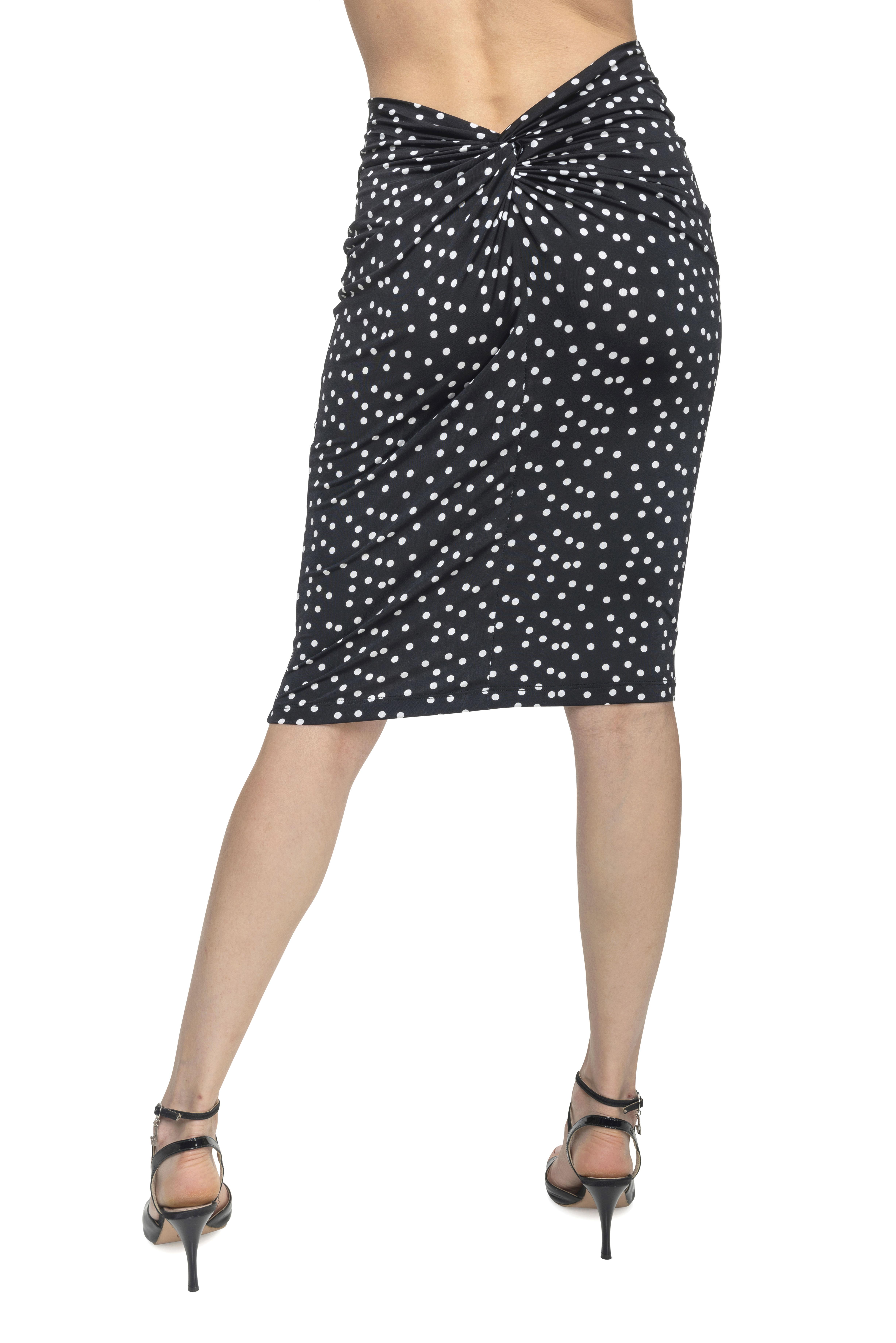 polka dots know tango skirt