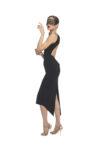 A naked back knot tango dress