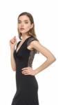 A stylish glitter knot tango dress